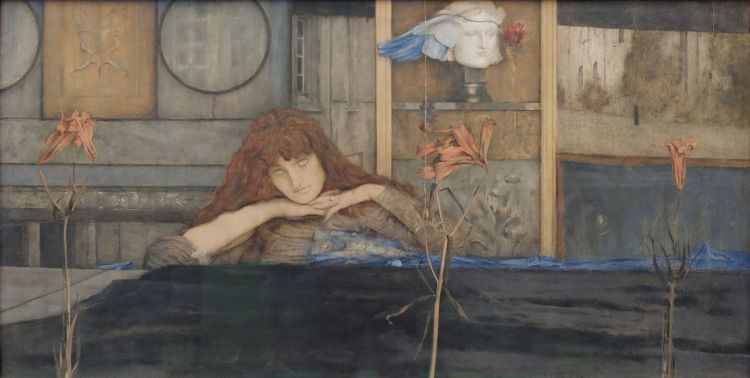 i_lock_my_door_upon_myself_fernand_khnopff_1891